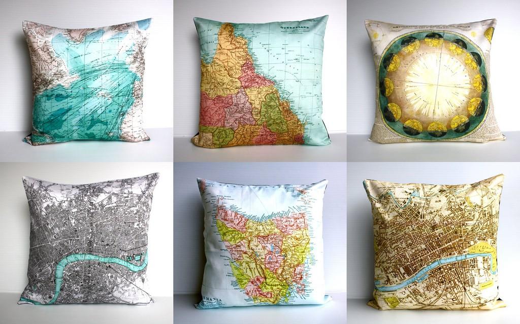 FLODEAU.COM My Bearded Pigeon Map cushion 6