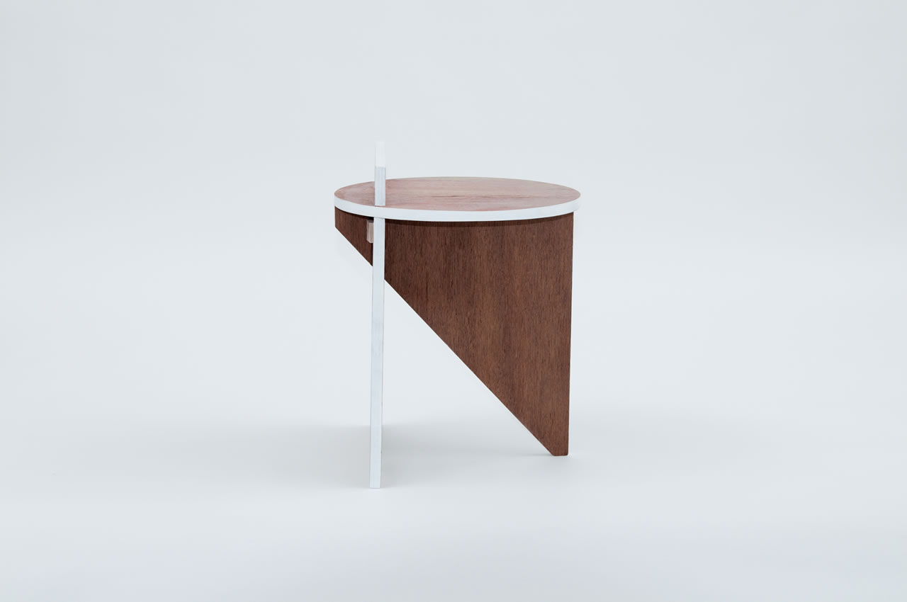 BCXSY Contrast stool and side table on flodeau.com 4