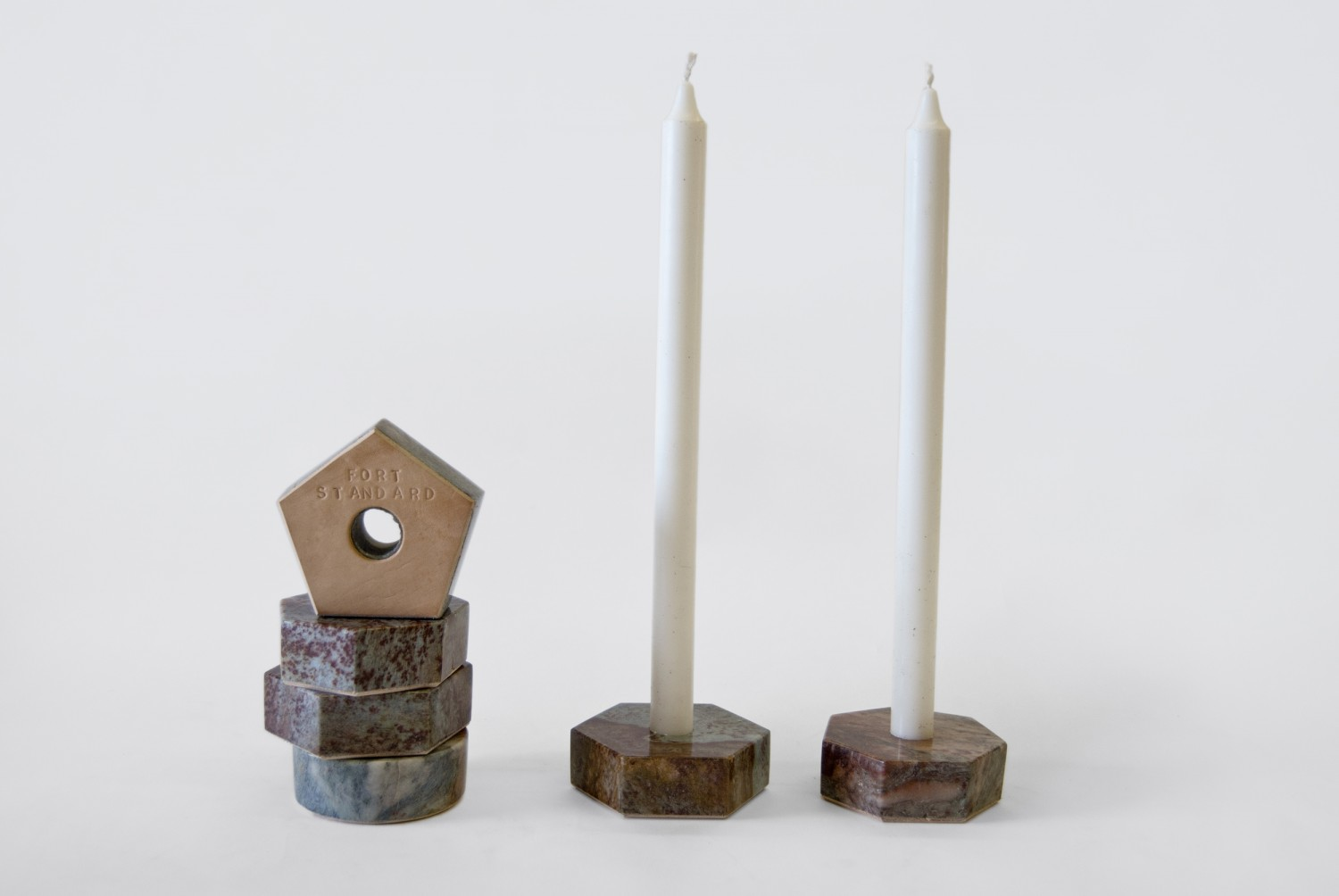 Fort Standard Stone Candle Holders on flodeau.com 5