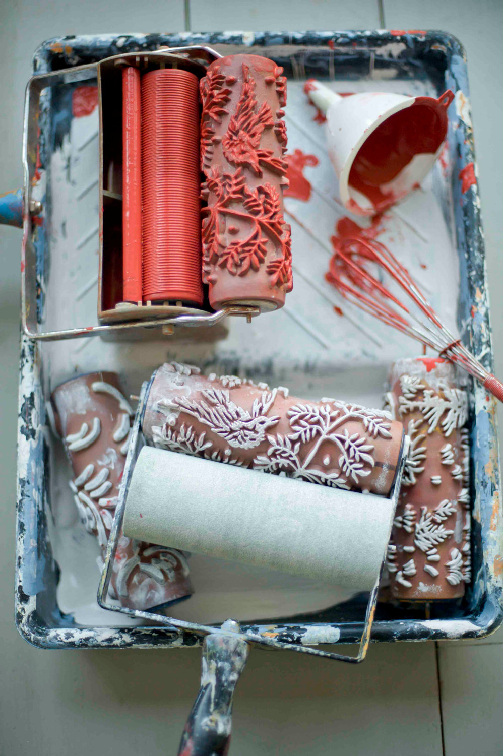 The Painted House : patterned paint rollers – Flodeau