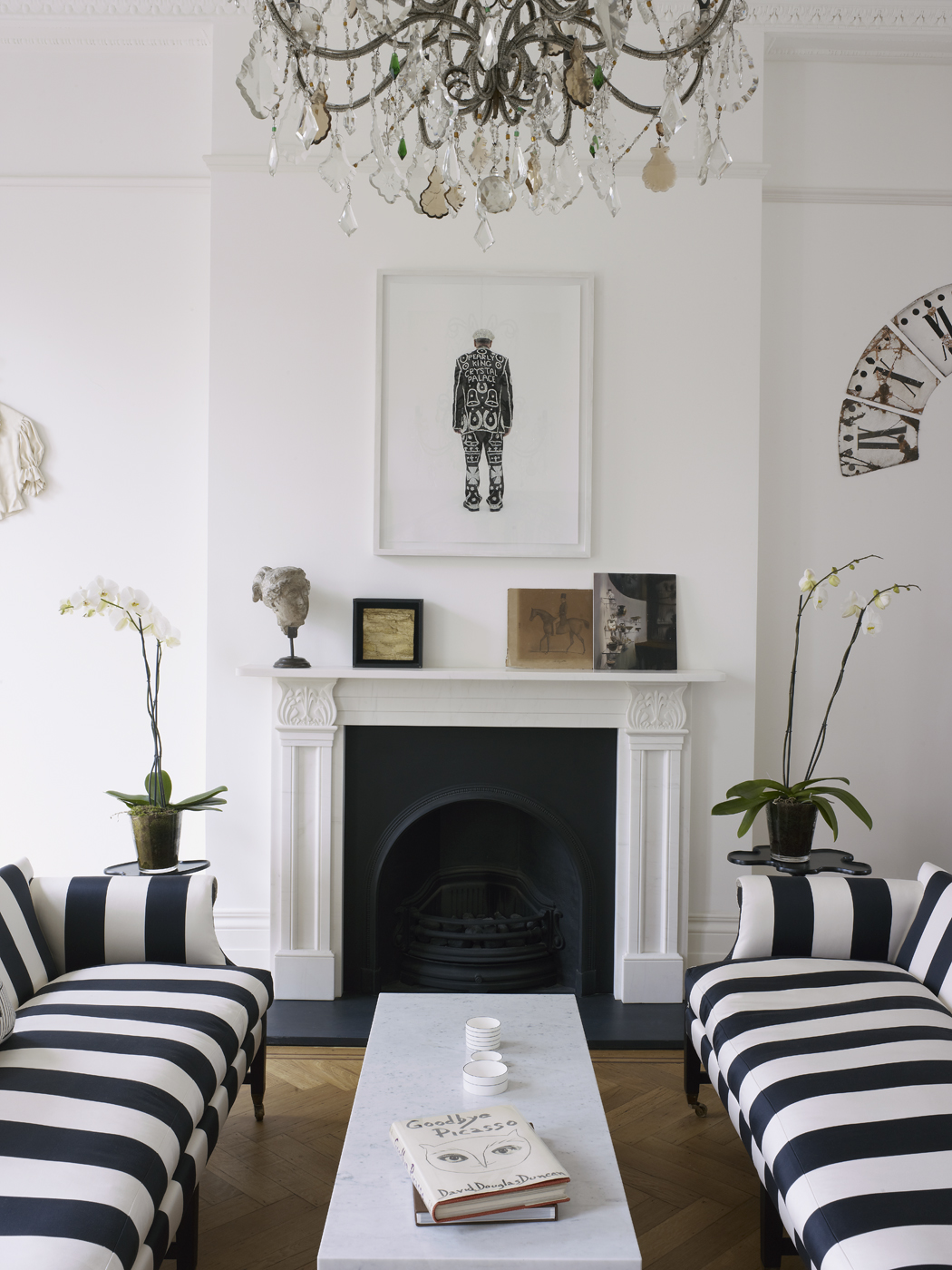 Home tour harriet anstruther s bright and modern 1840s for Interior designs london