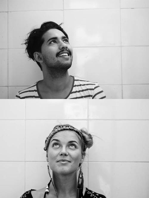 Oscar Mora and Pauline Dornic