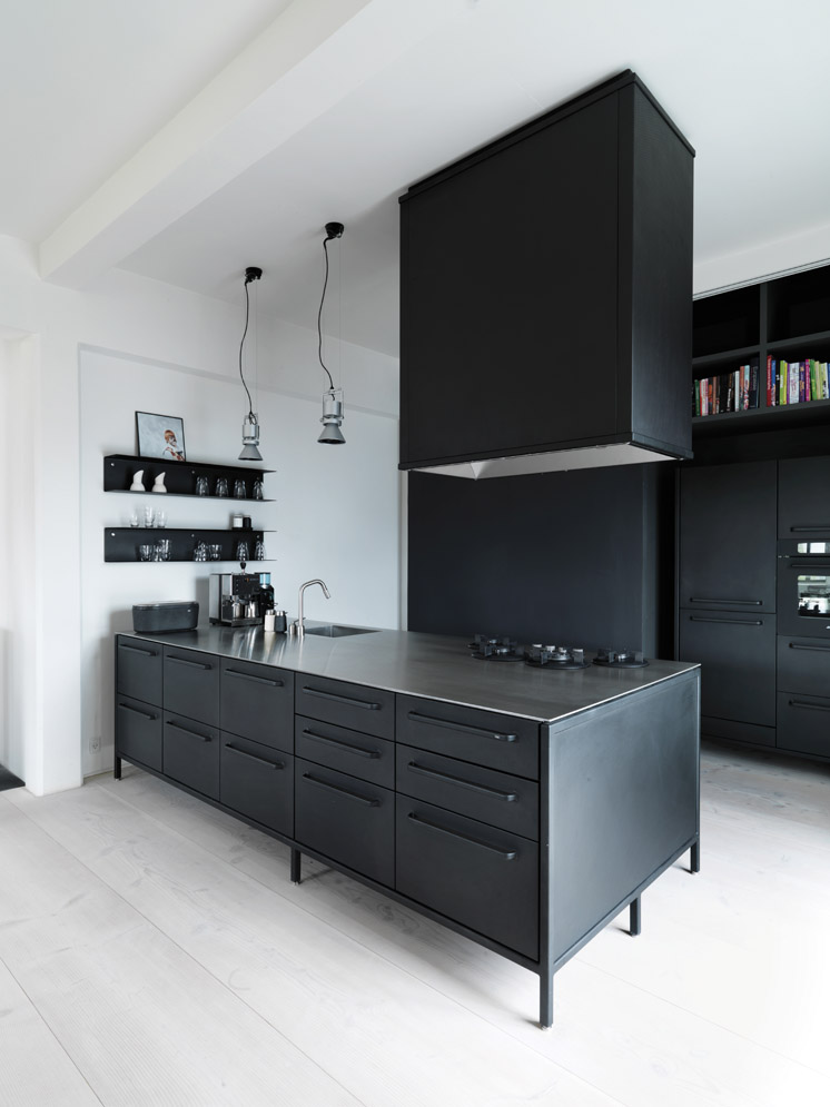 Vipp kitchen at vipp chief designer morten bo jensens home in copenhagen