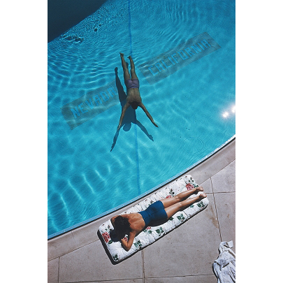 Swimmer And Sunbather by Slim Aarons
