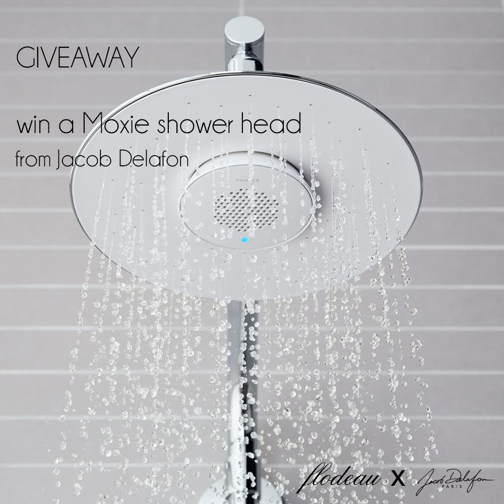 Giveaway : Moxie Shower Head by Jacob Delafon on Flodeau.com