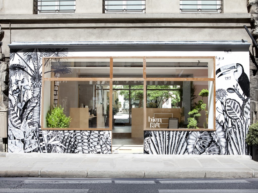 """""""Bien Fait"""" wallpaper Showroom in Paris by A+A Cooren   FLODEAU.COM"""