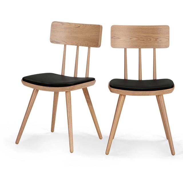 Pair of Kitson natural ash retro chairs
