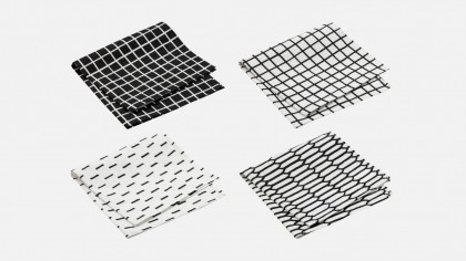 Black Mix Napkins by Sylvain Willenz for Hem