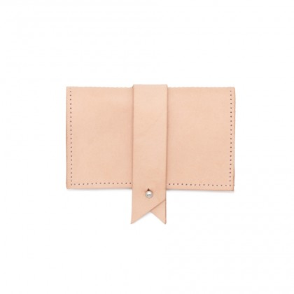 Nude Leather Cardholder by Dora