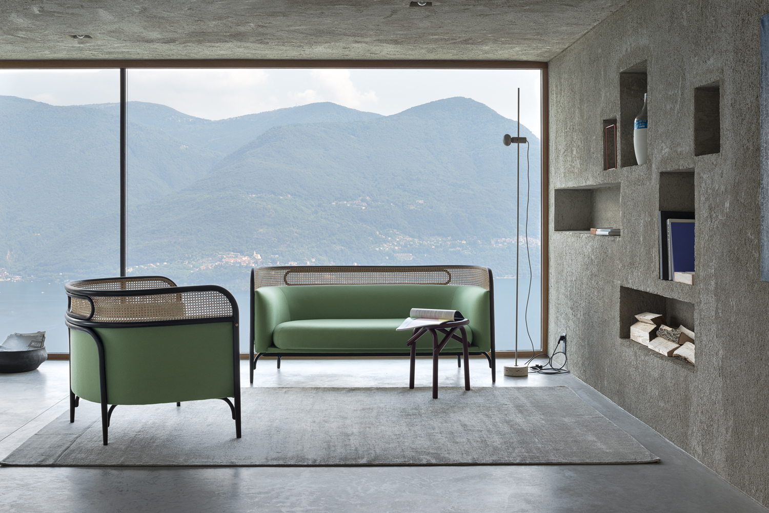 Targa Lounge and sofa By GamFratesi for Gebrüder Thonet Vienna | Flodeau.com