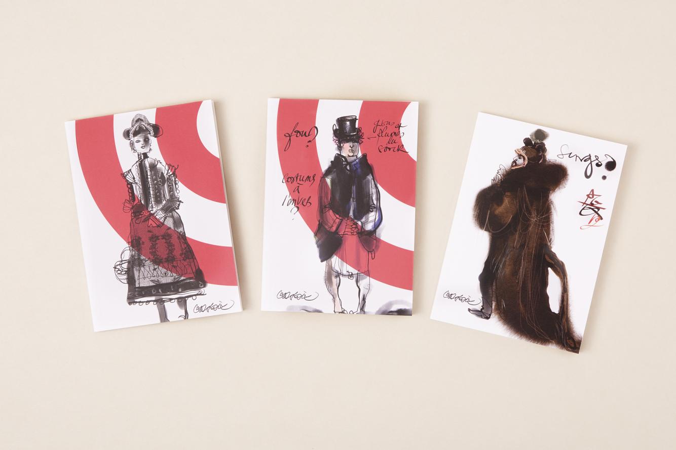 Notebooks by Christian Lacroix for La Comédie Française | on Flodeau.com