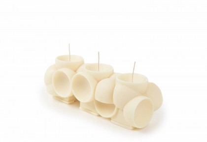 Sculptural candles by Andrej Urem at Gessato | Flodeau.com