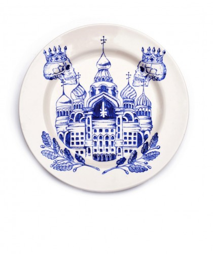 FROM RUSSIA WITH LOVE, Russian Prison Tattoos on fine porcelain by Valeria Monis
