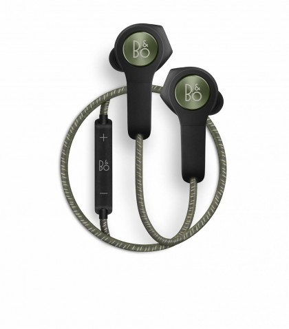 BeoPlay H5 Earphones in moss Green by Bang & Olufsen
