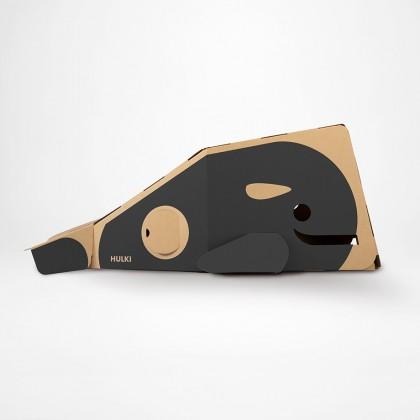 Gray Whale Cardboard Playhouse for kids by Hulki HULKI