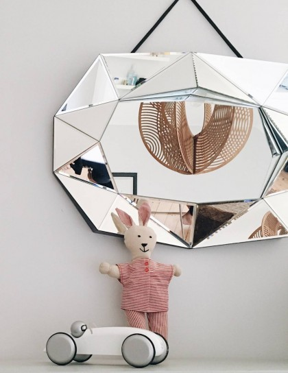 {Baby room} Diamond mirror by Reflections Copenhagen | FLODEAU.COM