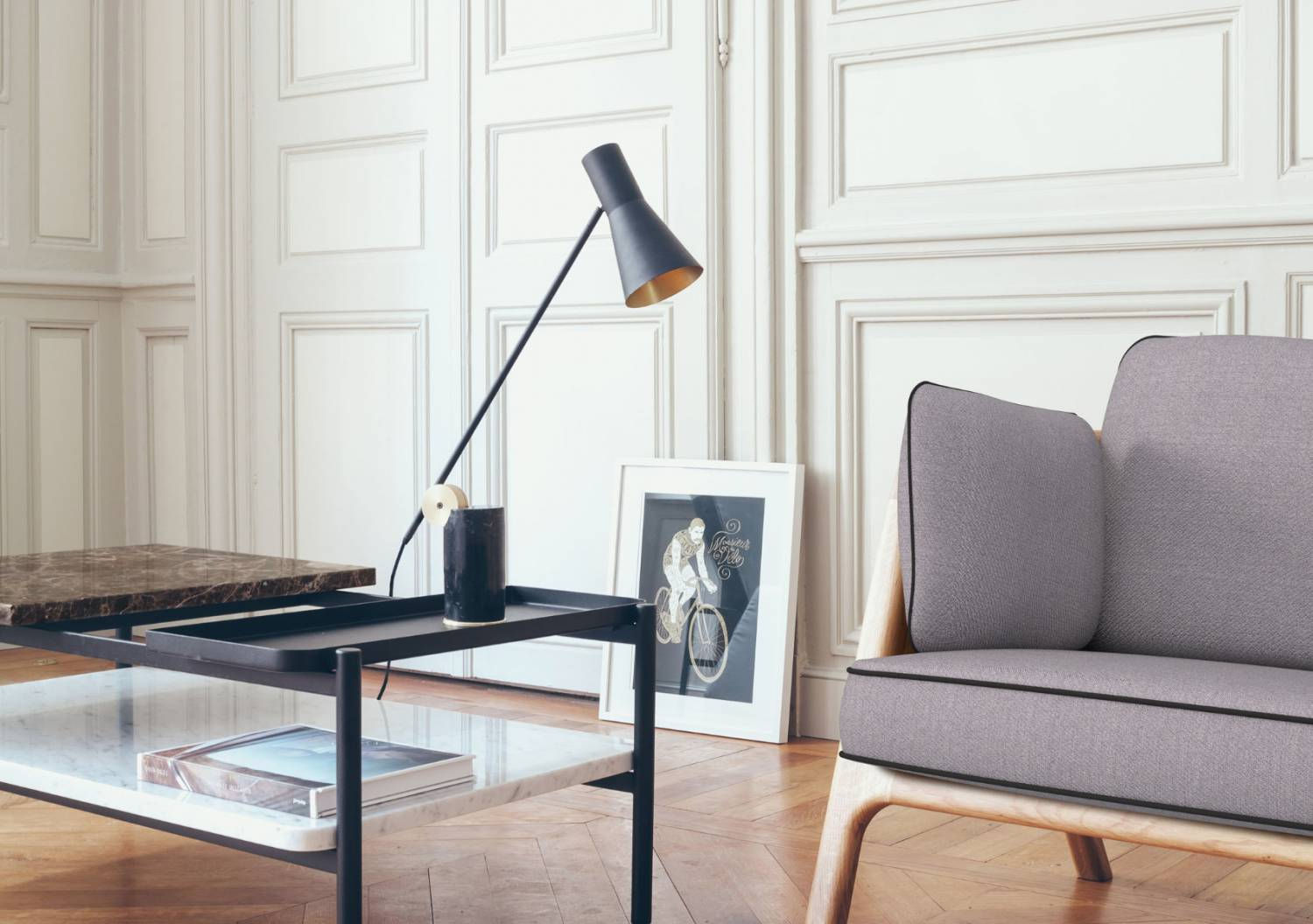Lutz table lamp by Pierre Dubourg for Versant Edition | Flodeau.com