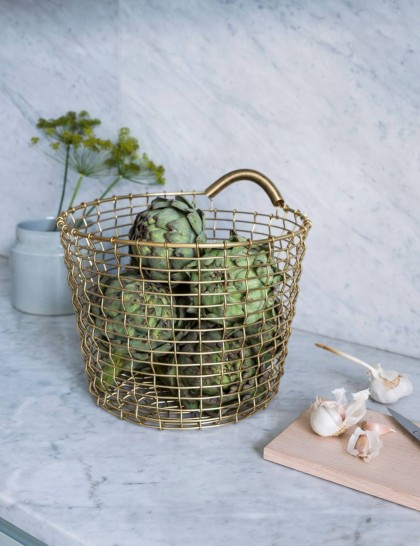 Korbo handwoven wire baskets | Flodeau.com