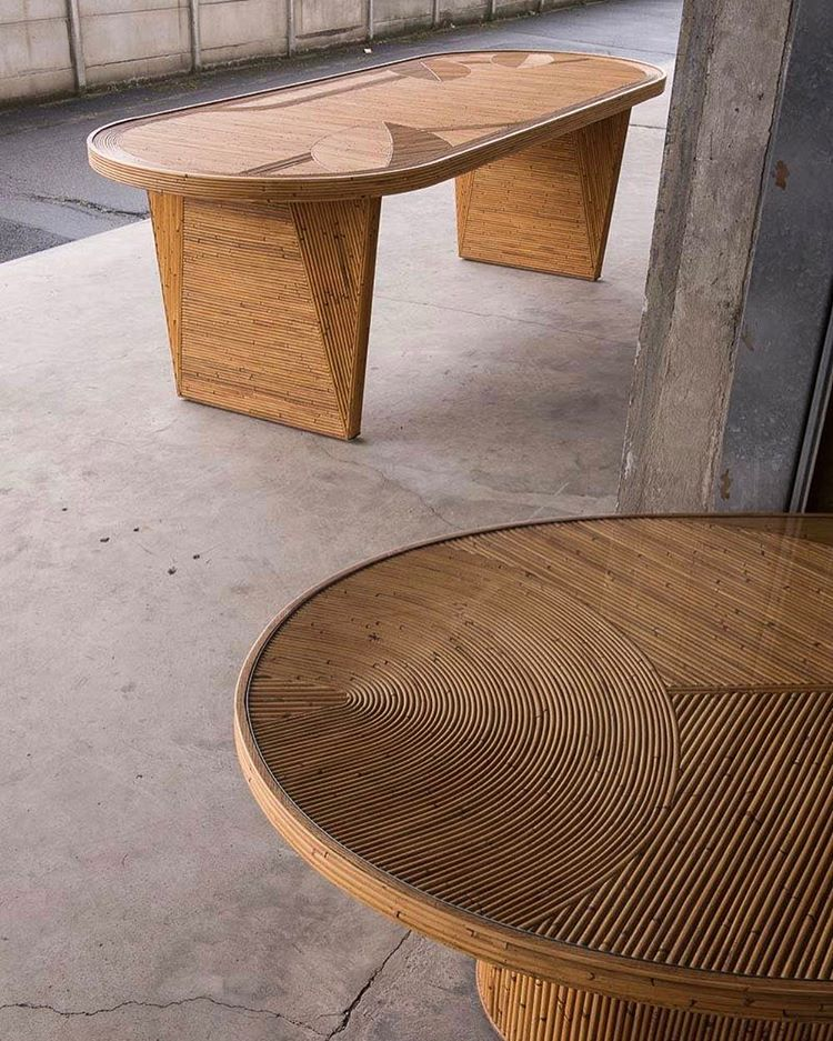 Rattan love - Fish table by India Mahdavi | Flodeau.com
