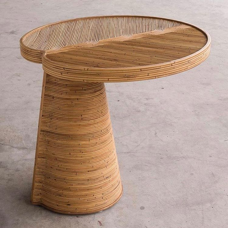 Rattan love - Stromboli table by India Mahdavi | Flodeau.com