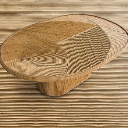 Rattan table by India Mahdavi | Flodeau.com