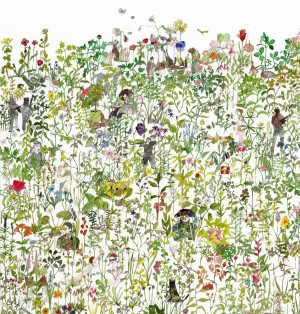 In the Garden wallpaper by Anna Surie for NLXL LAB | Flodeau.com