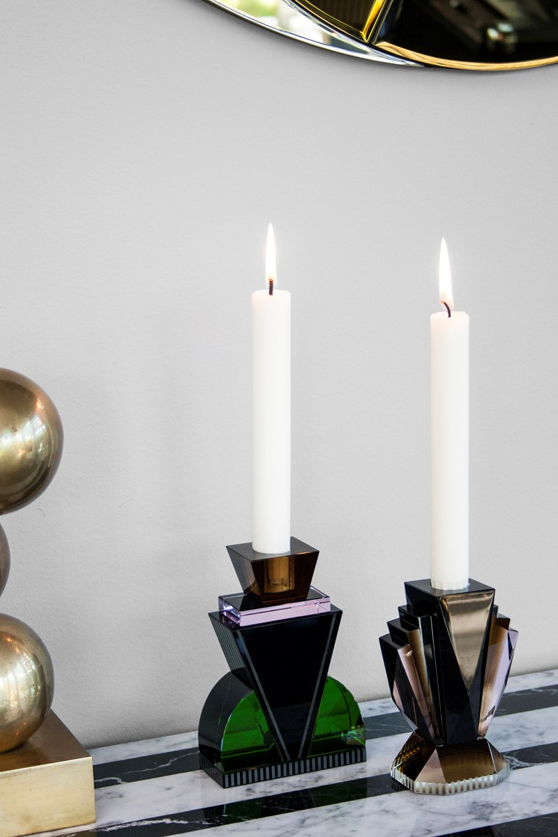 Art Deco candle holders by Reflections Copenhagen | Flodeau.com
