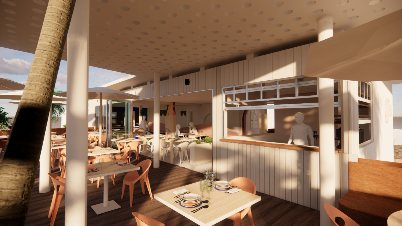 Odil restaurant 3d model ©Studio Flodeau